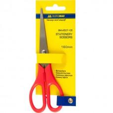 Ножницы офисные 16 см Buromax с красной пластиковой ручкой