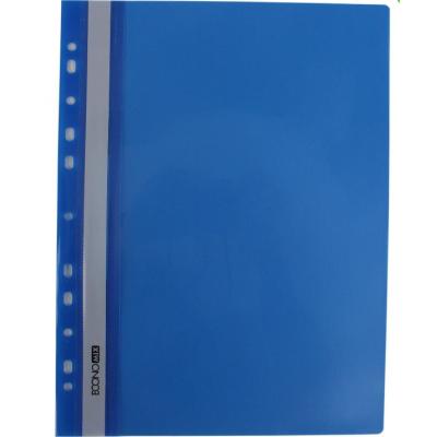 Папка-скоросшиватель А4 Economix с перфорацией, фактура глянец, синяя