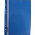 Папка-скоросшиватель А4 Economix с перфорацией, фактура глянец, синяя - Фото 2