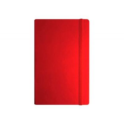 Деловая записная книжка А5, Vivella, твердая обложка, белый нелинованный блок, цвет – красный