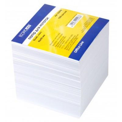 Бумага для заметок Economix, белая, макулатурная 90х90, 1000 л