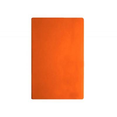 Деловая записная книжка А5, Vivella, твердая обложка, белый нелинованный блок, цвет - оранжевый