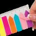 Закладки пластиковые с клейким слоем NEON, 45х12 мм + 42х12 мм 8х25 листов, ассорти - Фото 3