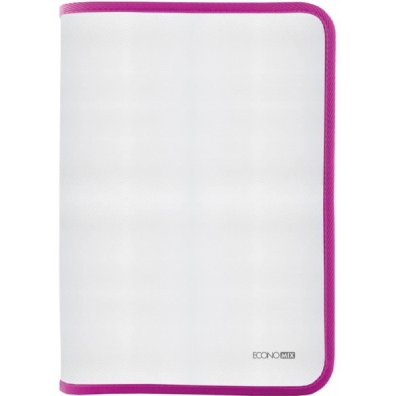 Папка-пенал пластиковая В5, фактура: ткань, розовый E31645-09