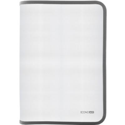 Папка-пенал пластиковая на молнии В5, фактура: ткань, серый E31645-10
