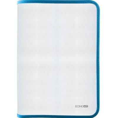 Папка-пенал пластиковая на молнии В5, фактура: ткань, голубой E31645-11