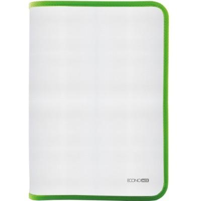Папка-пенал пластиковая на молнии В5, фактура: ткань, салатовая E31645-13