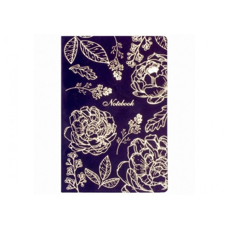 """Блокнот """"Flowers"""", софттач, A5, термобиндер, 80 л., клетка O20371-01"""