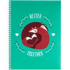 "Блокнот ""Valentine: Better Together"" А5 (150х200 мм), спіраль, 80 аркушів, клітинка E21951-08"