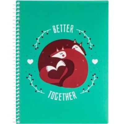 "Блокнот ""Valentine: Better Together"" А5 (150х200 мм), пластиковая обложка, спираль, 80 л., Клетка E21951-08"