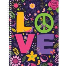"""Блокнот """"Valentine: Love"""" А5 (150х200 мм), пластикова обкладинка, спіраль, 80 аркушів, клітинка E21951-10"""