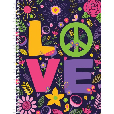 "Блокнот ""Valentine: Love"" А5 (150х200 мм), пластиковая обложка, спираль, 80 л., Клетка E21951-10"
