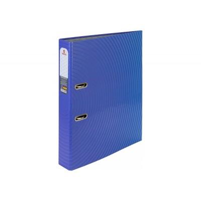 Папка-регистратор А4 Optima 50мм с печатной обложкой, сине-фиолетовая O35441