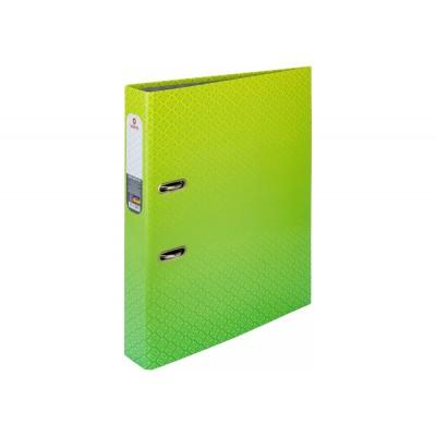Папка-регистратор А4 Optima 50мм с печатной обложкой, зелено-салатовая O35442