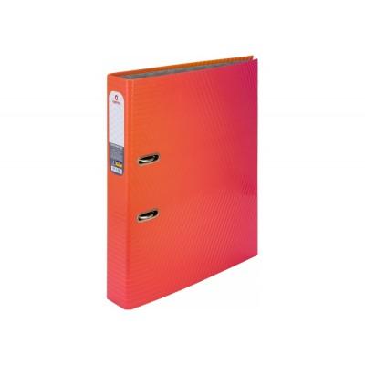 Папка-регистратор А4 Optima 50мм с печатной обложкой, розово-красная O35443