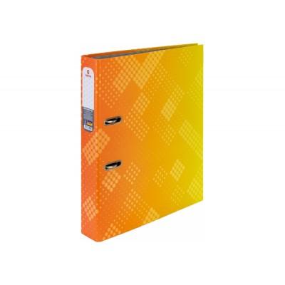 Папка-регистратор А4 Optima 50мм с печатной обложкой, оранжево-желтая O35444