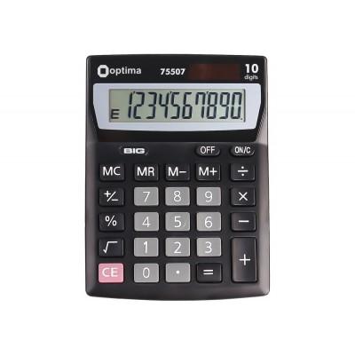 Калькулятор настольный Optima, 10 разрядов, размер 137*103*32 мм O75507