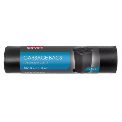 Пакет для мусора черный 160 л 10 шт ЛД