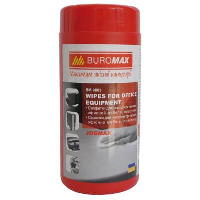Салфетки для оргтехники и мебели BuroMax, 100 штук