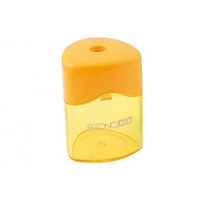 Треугольная пластиковая точилка с контейнером 1 лезвие, Economix