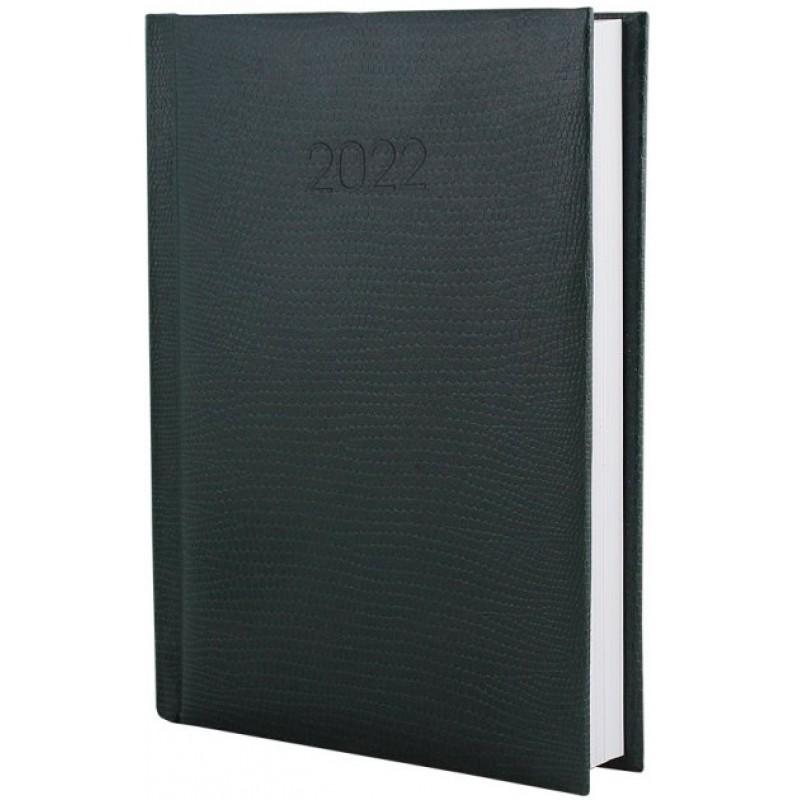 Ежедневник датированный 2022г., SNAKE (ЗМЕЯ), зеленый, А5, E21633-04