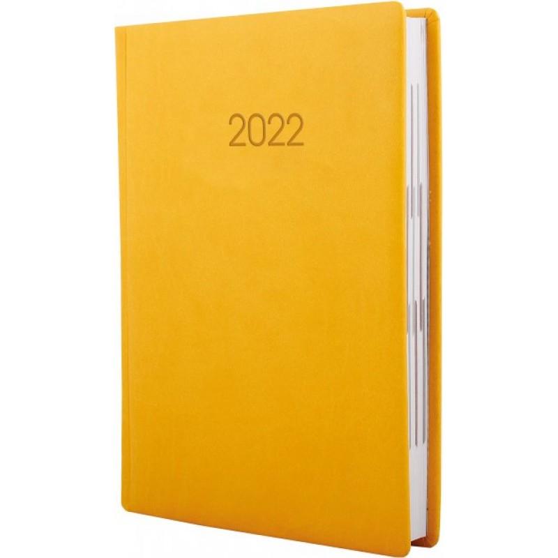 Ежедневник датированный 2022г., VIVELLA, желтый, А6, E21887