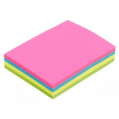 Блок для заметок с клейким шаром 38*50мм Economix неоновый микс 4 цвета