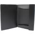 Папка пластиковая для документов Format А4 на резинках под нанесение, черная - Фото 3