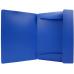 Папка пластиковая для документов А4 Format на резинках под нанесение, синяя - Фото 4
