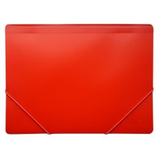 Папка пластиковая для документов Format А4 на резинках под нанесение, красная