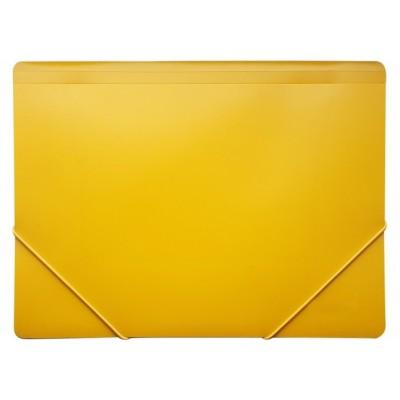 Папка пластиковая для документов Format А4 на резинках под нанесение, желтая