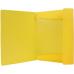 Папка пластиковая для документов Format А4 на резинках под нанесение, желтая - Фото 3