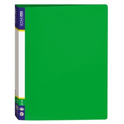 Папка пластиковая А4 Economix на 2 кольца, зеленая