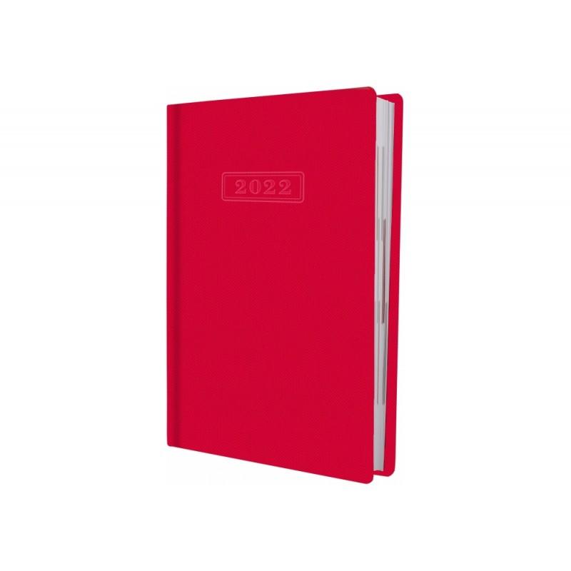 Ежедневник датированный 2022г., SQUARE, красный, А5, без поролона, O25204-03