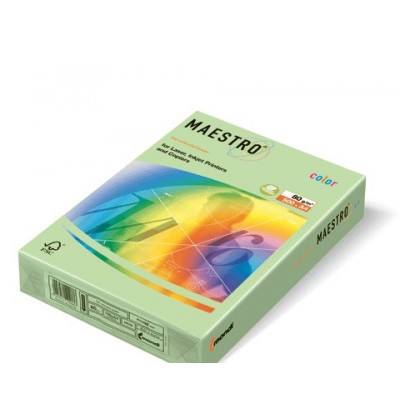 Бумага А4 Maestro Color МG28 (нежно-зеленый)