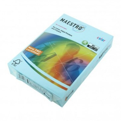 Бумага А4 Maestro Color МВ30 (голубой)