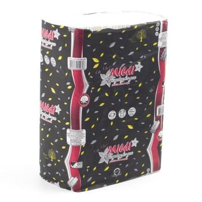 """Полотенца бумажные в листах """"Mildi"""" Z-типа, белые, двухслойные, 200 шт."""