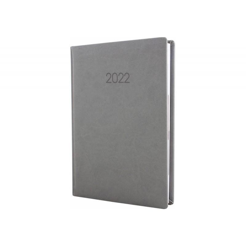 Ежедневник датированный 2022г., VIVELLA, серый, А6, E21891