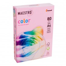 Бумага А4 Maestro Color PI25 Pink (розовый)