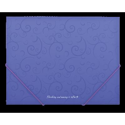Папка пласт. А5 на резинках, BAROCCO, фиолетовая