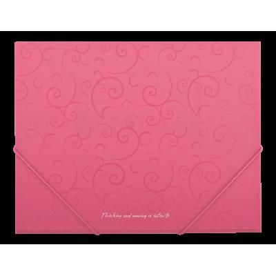 Папка пласт. А5 на резинках, BAROCCO, розовая