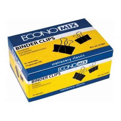 Биндеры для бумаги 41 мм Economix, 12 шт