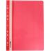 Папка-скоросшиватель А4 Economix с перфорацией, фактура глянец, красная - Фото 2