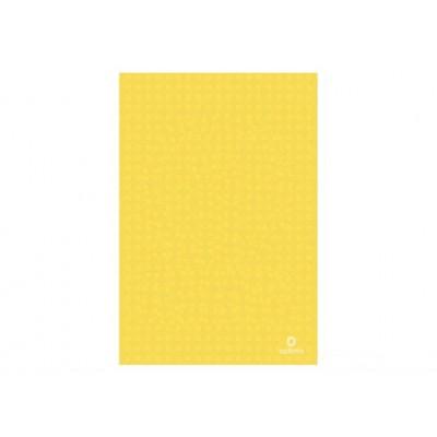 Папка-уголок А4 Optima, 130 мкм, фактура Вышиванка, желтая