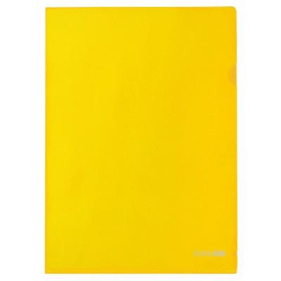 Папка уголок А4 Экономикс, 180 мкм фактура глянец желтая