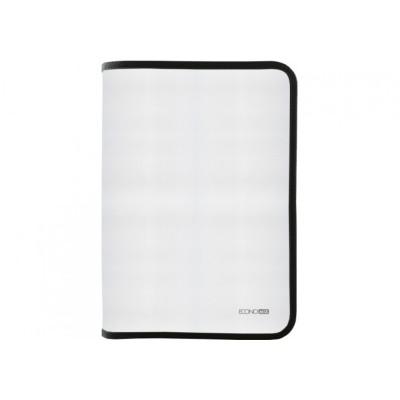 Папка-пенал пластиковая Economix на молнии В5, фактура тканевая, черная