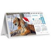 Календарь «домик» перекидной, тигры 2022h-02