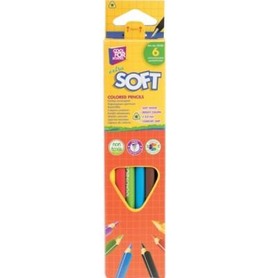 Карандаши цветные «Extra Soft», 6 цветов, треугольные CF15142