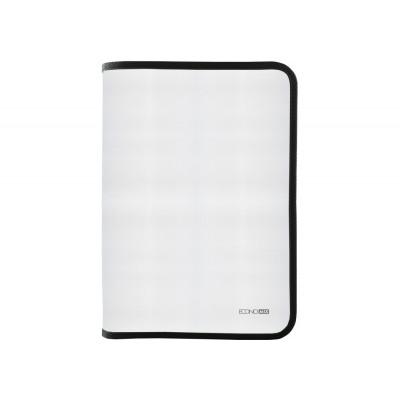 Папка-пенал пластиковая на молнии Economix А4, прозрачная, фактура тканевая черная