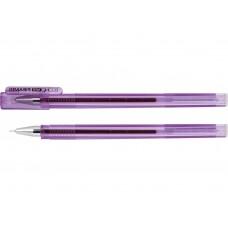 Ручка гелевая фиолетовая  Economix PIRAMID 0.5mm